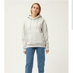 Weekday light grey fleece hoodie